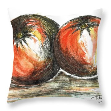 Juicy Tomatoes Throw Pillow