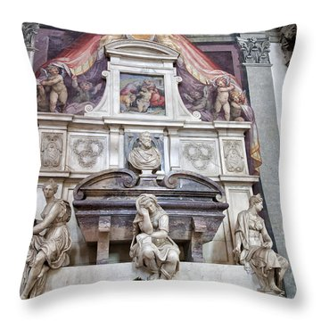 Tomb Of Michelangelo Throw Pillow by Melany Sarafis