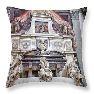 Tomb Of Michelangelo Throw Pillow