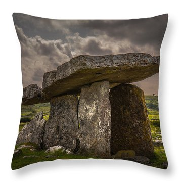 Tomb Of The Ancients Throw Pillow by Tim Bryan
