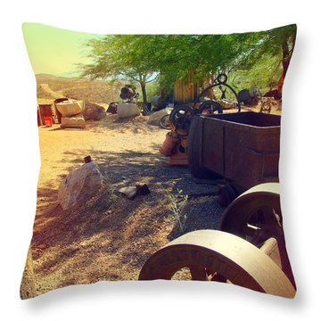 Tombstone Miner's Yard Throw Pillow