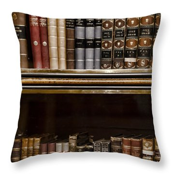 Tomes Throw Pillow by Heather Applegate