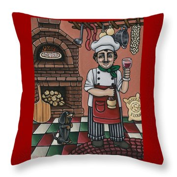 Tommys Italian Kitchen Throw Pillow