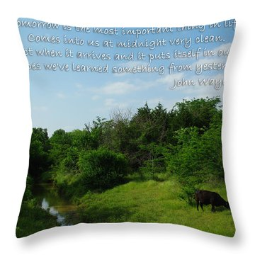 Tomorrow John Wayne Throw Pillow by Robyn Stacey