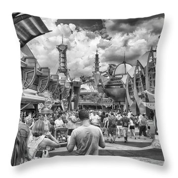 Throw Pillow featuring the photograph Tomorrowland by Howard Salmon