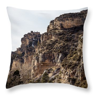 Tongue River Canyon Throw Pillow