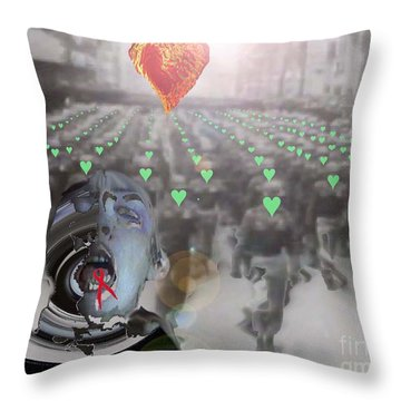 Tongue-tied Samsara Throw Pillow by Feile Case