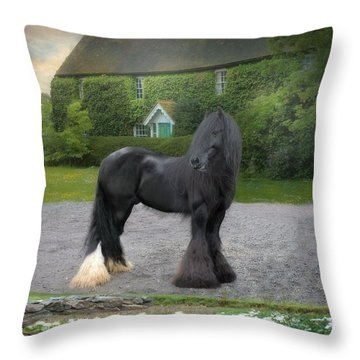 Tonka Throw Pillow by Fran J Scott