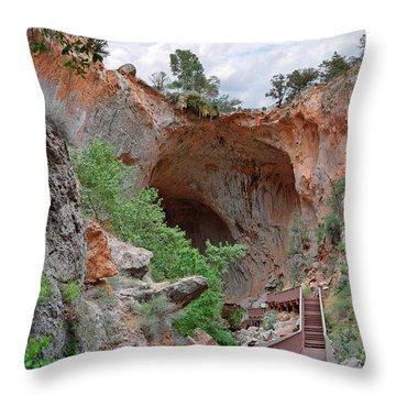 Tonto Natural Bridge Az Throw Pillow by Christine Till
