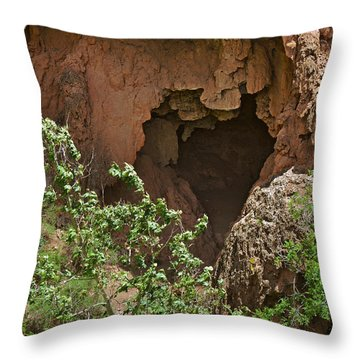 Tonto Natural Bridge State Park Throw Pillow by Christine Till