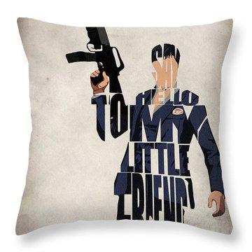Tony Montana - Al Pacino Throw Pillow by Inspirowl Design
