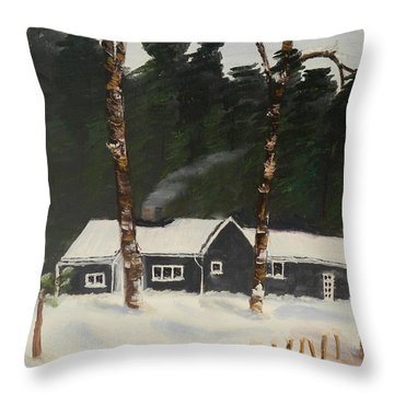 Tonys House In Sweden Throw Pillow