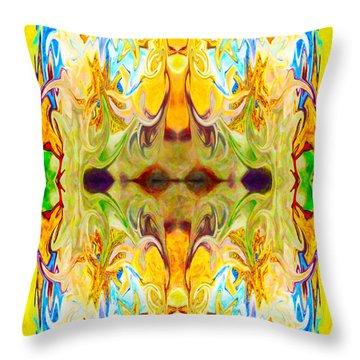 Tony's Tower Abstract Pattern Artwork By Tony Witkowski Throw Pillow by Omaste Witkowski