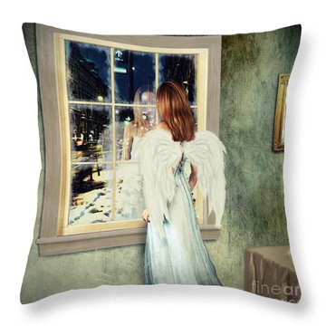 Too Cold For Angels Throw Pillow