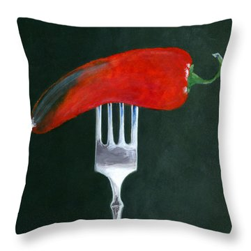 Too Hot To Handle Throw Pillow