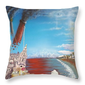 Too Late For Change? Throw Pillow
