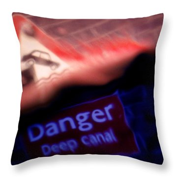 Throw Pillow featuring the photograph Too Late by Richard Piper
