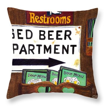 Too Many Suds Throw Pillow