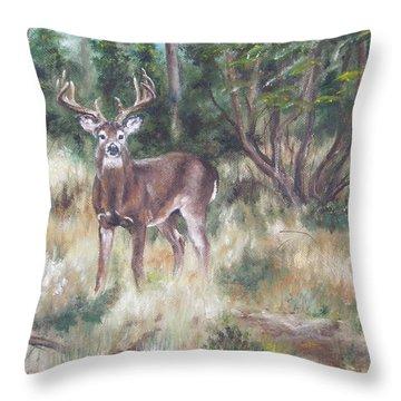 Too Tempting Throw Pillow by Lori Brackett