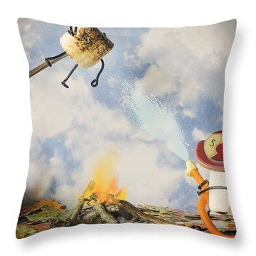 Too Toasted Throw Pillow