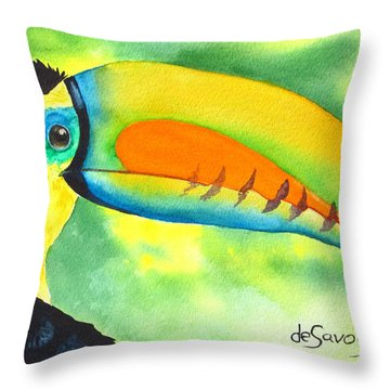 Throw Pillow featuring the painting Tookey  by Diane DeSavoy