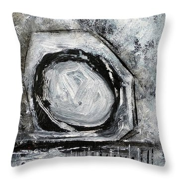 Throw Pillow featuring the painting Tool Time by Jim Whalen