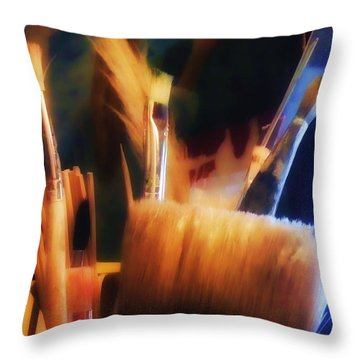 Tools Of The Artist Throw Pillow