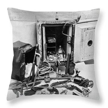 Tools Of The Safe Cracker Throw Pillow