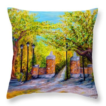 Toomer's Corner Oaks Throw Pillow