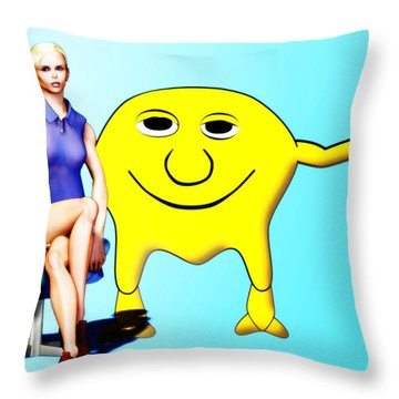 Tooned In Throw Pillow