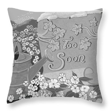 Throw Pillow featuring the digital art Toosoon by Carol Jacobs