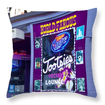 Tootsies Nashville Throw Pillow