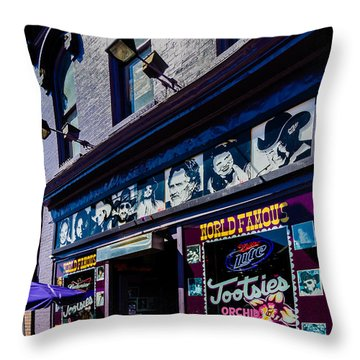 Tootsies Nashville Tennessee Throw Pillow