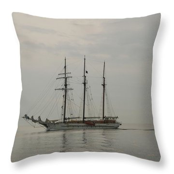Topsail Schooner Mystic Throw Pillow