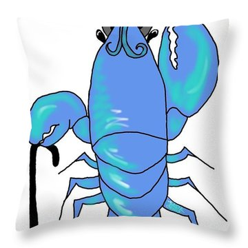 Top Hat And Tails Lobster Throw Pillow