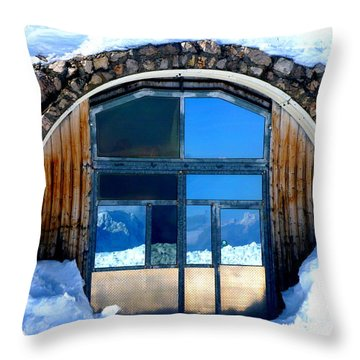 Top Of Germany Reflection Throw Pillow by The Creative Minds Art and Photography