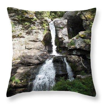 Top Of Kent Falls Throw Pillow