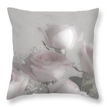 Top Of My Bouquet Throw Pillow by Sandra Foster