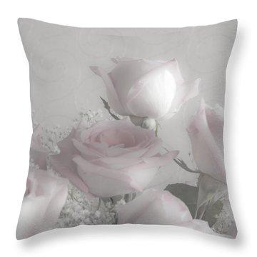 Top Of My Bouquet Throw Pillow