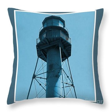 Throw Pillow featuring the photograph Top Of Sanibel Island Lighthouse by Janette Boyd