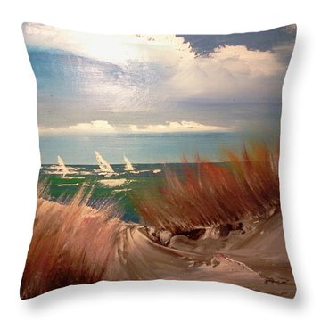 Top Of The Dune Throw Pillow by Joseph Gallant