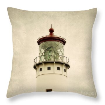 Top Of The Lighthouse Throw Pillow by Scott Pellegrin