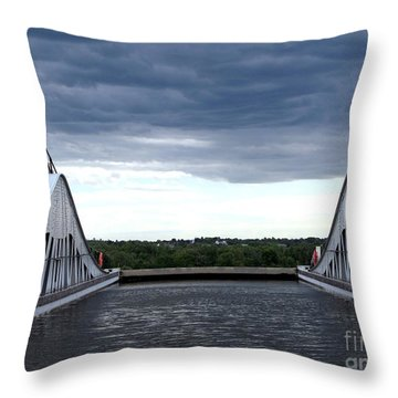 Top Of The Locks Throw Pillow