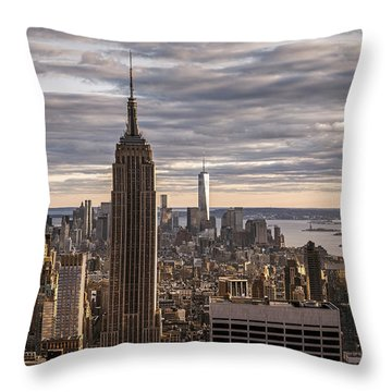 Top Of The Roc Throw Pillow
