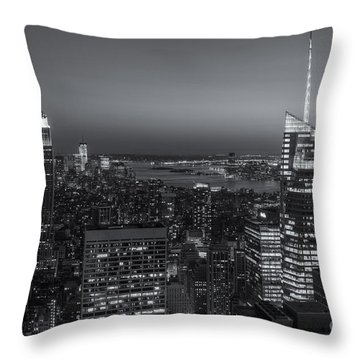 Top Of The Rock Twilight V Throw Pillow by Clarence Holmes