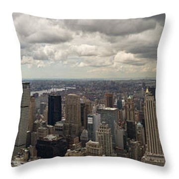 Top Of The Rock View Throw Pillow
