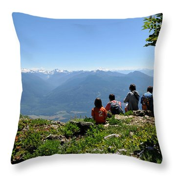 Throw Pillow featuring the photograph Top View by Rebecca Parker