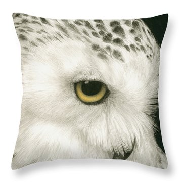 Topaz In The Snow Throw Pillow