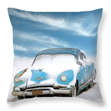 Topeka Blues Throw Pillow