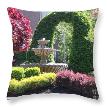 Throw Pillow featuring the photograph Topiary Garden by Lyric Lucas